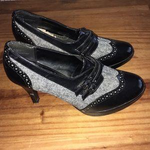 APT.9 Tweed Oxford Heels